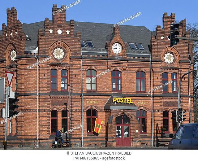 The facade of the former imperial post office in the centre of Wolgast, Germany, 15 February 2017. Wolgast is selling off housing stock in the historic centre...
