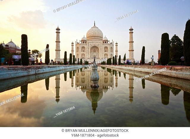 Taj Mahal at Sunset, Agra, Uttar Pradesh, India