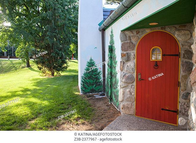 Santa House, a Christmas holiday tourist attraction in Midland, Michigan, USA
