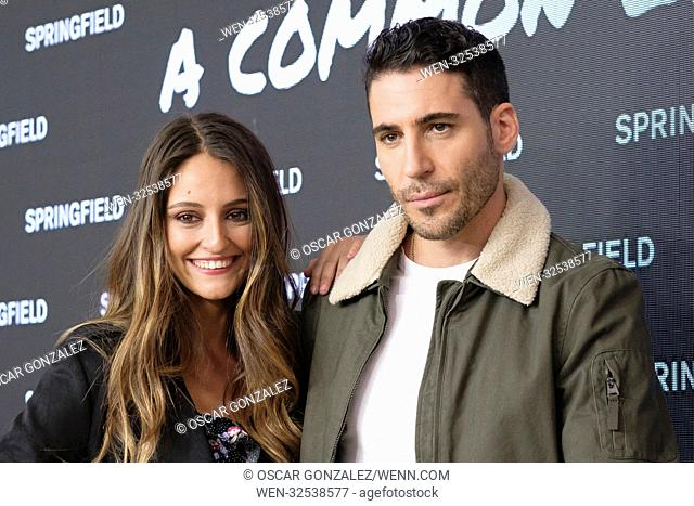 Andrea Molina and Miguel Angel Silvestre attend a photocall for the new Springfield collection at Camera Studio in Madrid Featuring: Andrea Molina