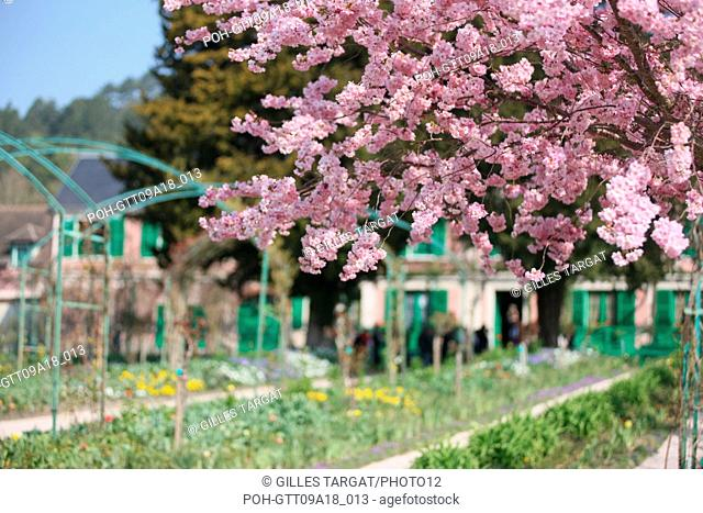 tourism, France, upper normandy, eure, vallee de la seine, valley, giverny, claude monet house, garden, flowers, impressionnists, painting