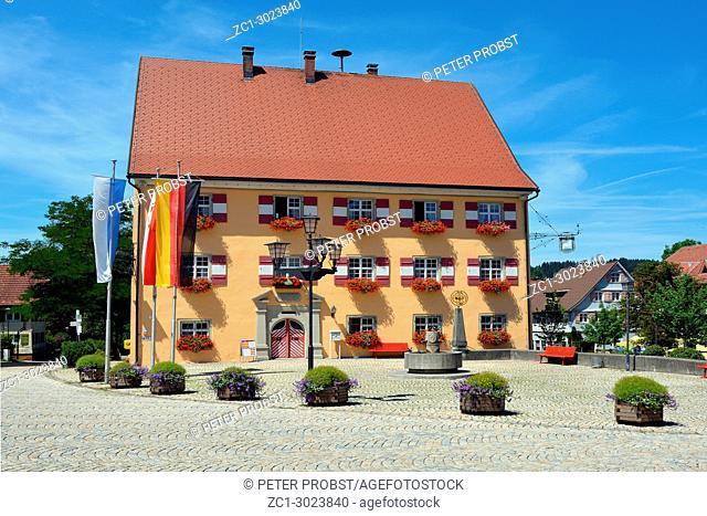 Town hall of Weiler im Allgaeu near Lake Constance - Germany.