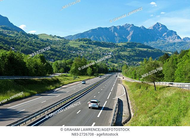 Highway, Val D'Arly, Savoie, France, Europe