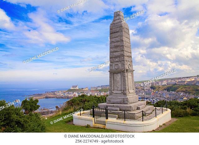 The World War I Memorial, Findochty, Banffshire, Moray, Grampian, Scotland, UK