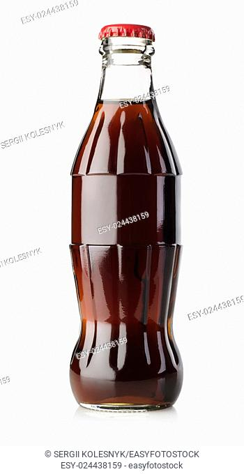 Bottle of soda isolated on white background. Clipping Path