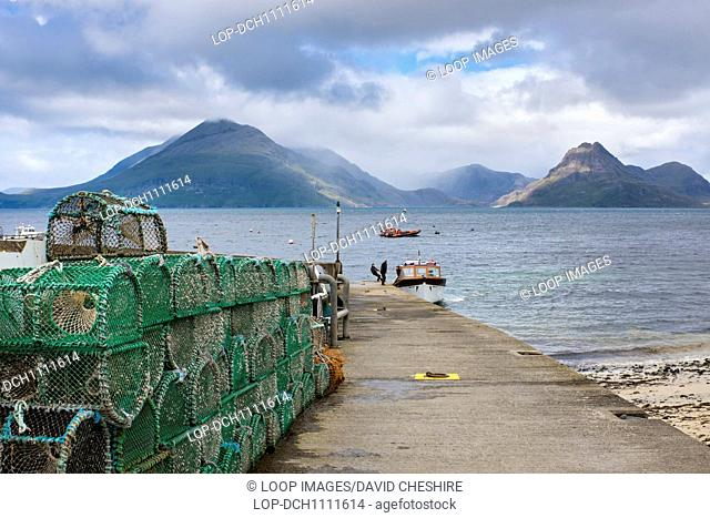 Tourist boats at Elgol on the Isle of Skye