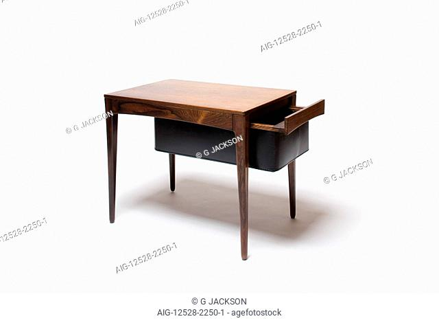 Coffee Table with Magazine Drawer. Designer: Unknown