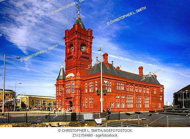 The Pierhead building in Cardiff City Wales