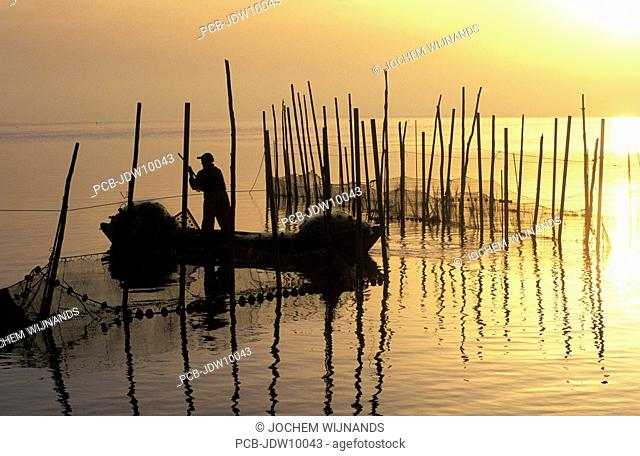 Valencia, the Albufera marine gulf and national nature reserve and bird sanctuary