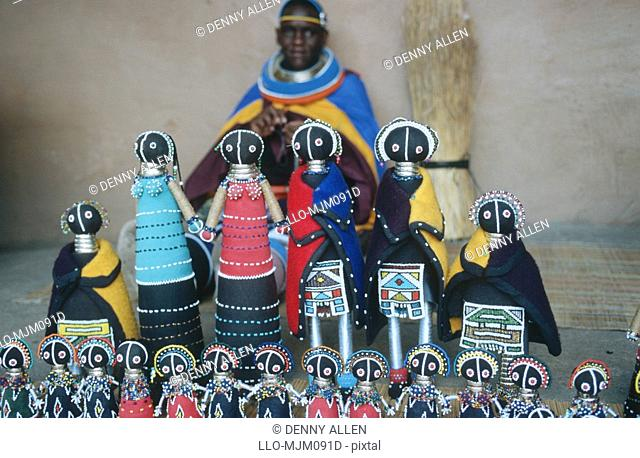Traditional bead-work dolls, Northwest Province, South Africa