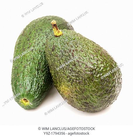 Avocados isolated on white background