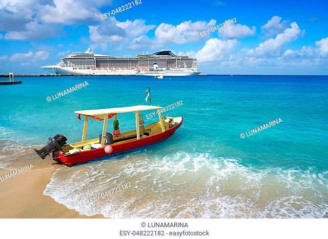 Cozumel island beach in Riviera Maya of Mayan Mexico
