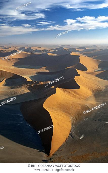 Aerial View of Dune 45 - Namib-Naukluft National Park, Namibia, Africa