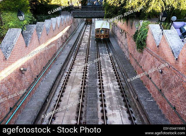 1870 Budapest Castle Hill Funicular in Budapest Hungary