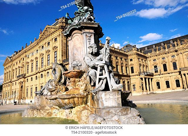 The Franconia Fountain before the Wurzburg Residence