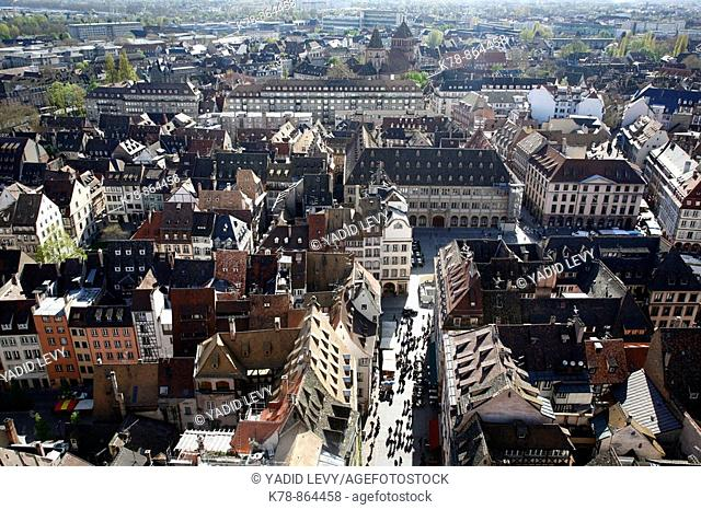 Sep 2008 - View over Strasbourg from the Cathedral, Alsace, France