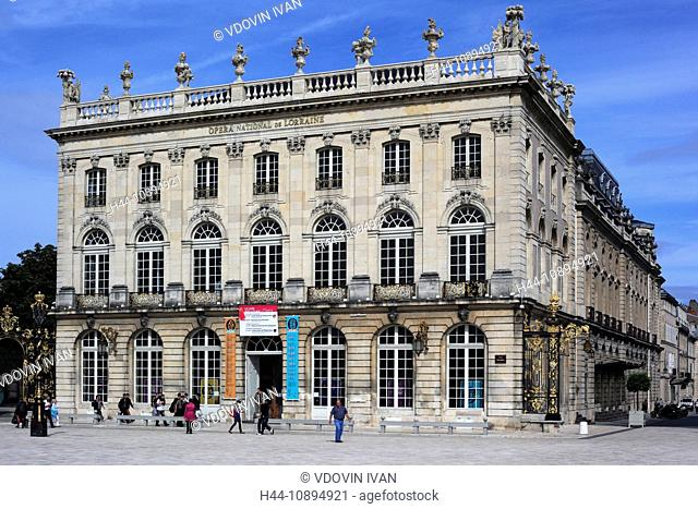 France, French, Western Europe, Europe, European, Architecture, building, City, town, house, houses, Facade, Nancy, Meurthe-et-Moselle department, Lorraine