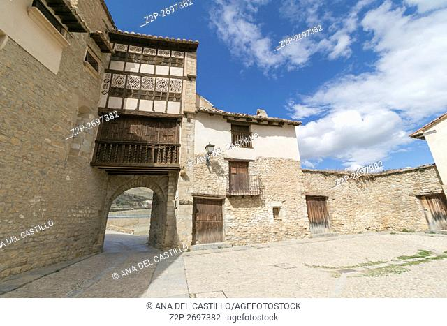 Mirambel is one of the most prettiest towns in Spain Maestrazgo mountains Teruel Aragon The convent