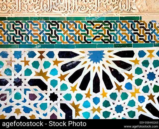 GRANADA, ANDALUCIA/SPAIN - MAY 7 : Part of the Alhambra Palace in Granada Andalucia Spain on May 7, 2014
