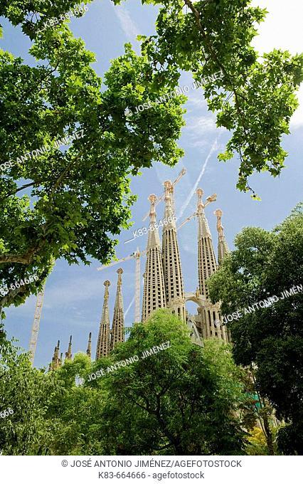 Sagrada Familia temple by Gaudí. Barcelona, Spain