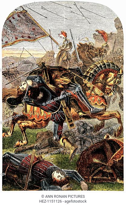 The capture of Joan of Arc, 1430. French patriot and martyr, captured while trying to relieve Compiegne, then under siege by the Burgundians, 1430