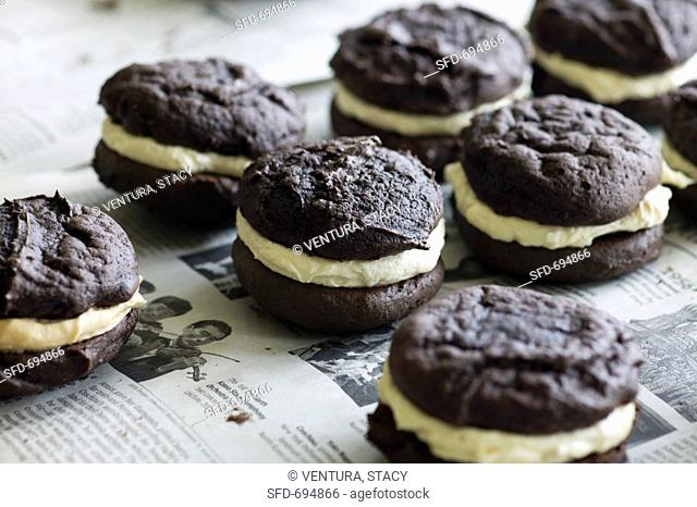 Traditional Chocolate Whoopie Pies