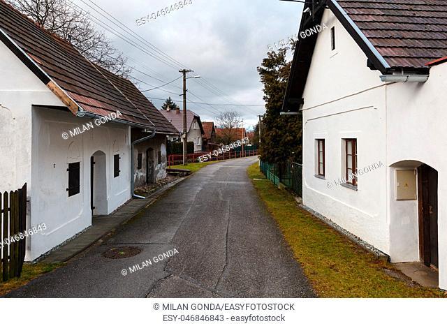 Traditional architecture in Blatnica village, Turiec region, Slovakia.