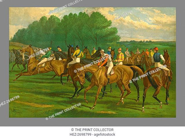 'A False Start - Derby', 1883. Creator: John Sturgess