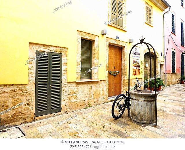 Street in the old town od Alcudia - Majorca, Balearic Islands, Spain