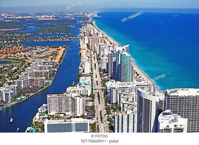 Aerial view of Fort Lauderdale, Florida, United States