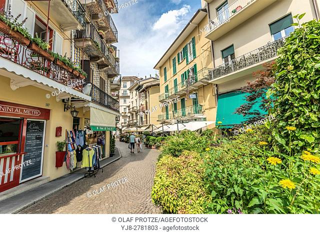 Old town of Stresa at Lago Maggiore, Piemont, Italy