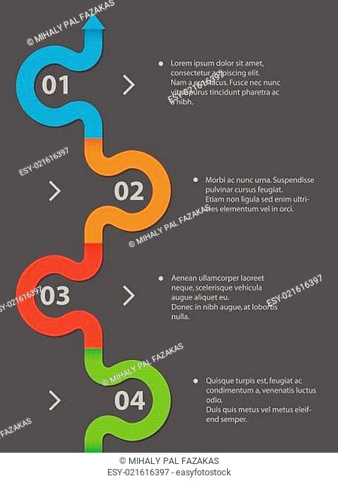 Simplistic infographic design with 4 options