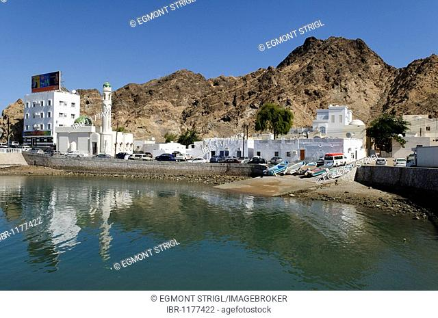 Little fishing harbor in Mutrah, Muscat, Sultanate of Oman, Arabia, Middle East