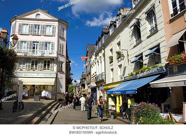 stret in the centre, France, Normandy, Honfleur