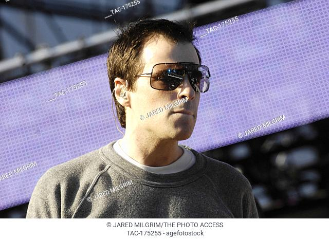 Rivers Cuomo of Weezer performs at The 2009 KROQ Weenie Roast Y Fiesta at Verizon Wireless Amphitheater on May 16, 2009 in Irvine