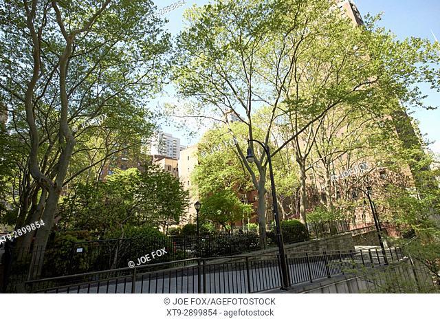 Tudor city greens public park tudor city New York City USA