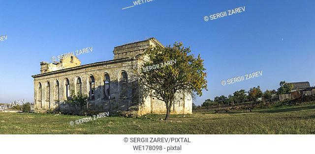 Abandoned Catholic church of the Nativity of the Blessed Virgin Mary in the village of Kamenka, Odessa region, Ukraine