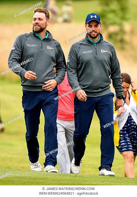 The Celebrity Cup 2016 at Celtic Manor, Wales Featuring: Keith Duffy, Brian McFadden Where: Wales, Wales, United Kingdom When: 09 Jul 2016 Credit: James...
