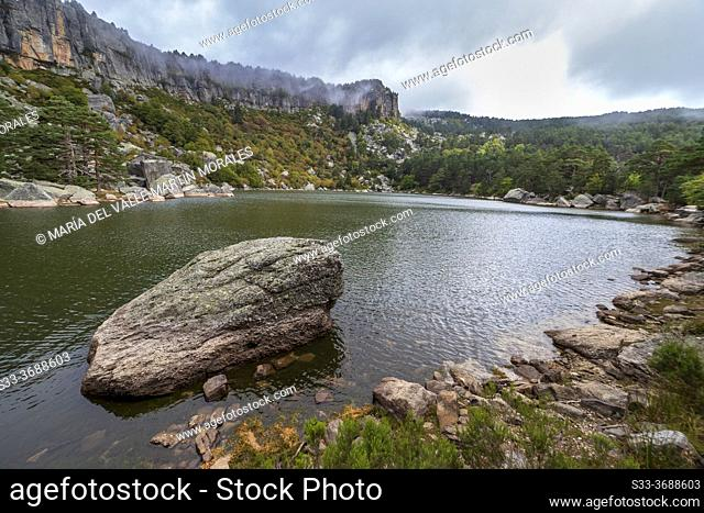 The Black Lagoon on a cloudy day. Soria. Spain. Europe