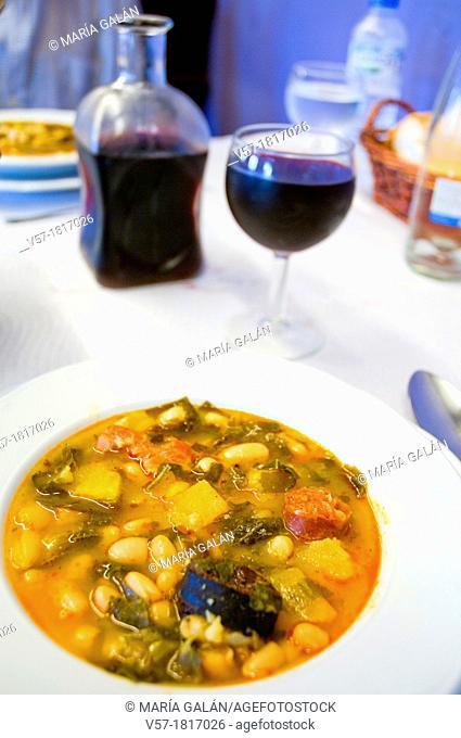 Pote asturiano serving. Asturias, Spain
