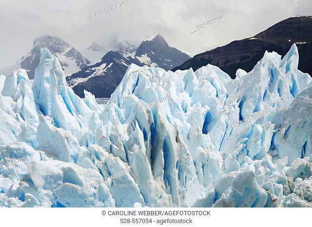 Moreno Glacier peaks, Argentina