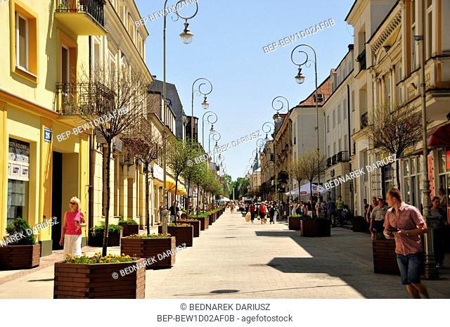 Sienkiewicza street in Kielce, swietokrzyskie Voivodeship, Poland
