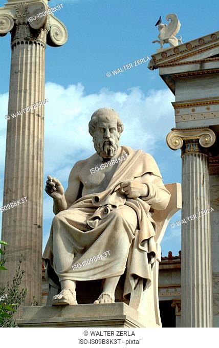 Statue of Plato, Academy of Athens, Athens, Attiki, Greece, Europe
