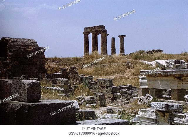 Temple of Apollo, Ancient Corinth, Greece, 1963