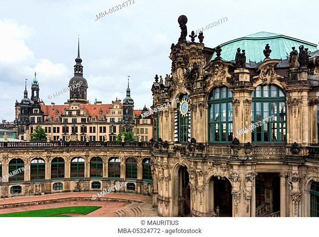 Dresden, Zwinger, carillon pavilion, Dresden Castle