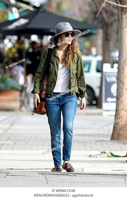 Rachel Bilson wear a gray felt hat Featuring: Rachel Bilson Where: Los Angeles, California, United States When: 09 Feb 2017 Credit: WENN.com