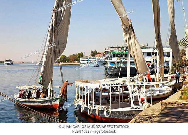 Felucca. Aswan. Nile Valley. Egypt