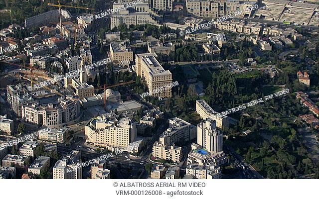 Aerial HD shot of Jerusalem