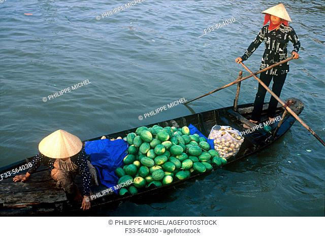 Vietnam. Mekong Delta. Can Tho. Floating market of Cai Rang