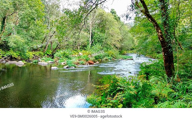 Eo river, between Asturias and Galicia, near San Tirso de Abres village. Spain